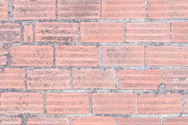 Muro di mattoni invecchiato sullo sfondo. trama di costruzione