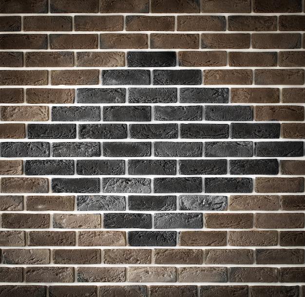 Muro di mattoni marrone chiaro con motivo, back-phonons creativi, primo piano, posto per il testo
