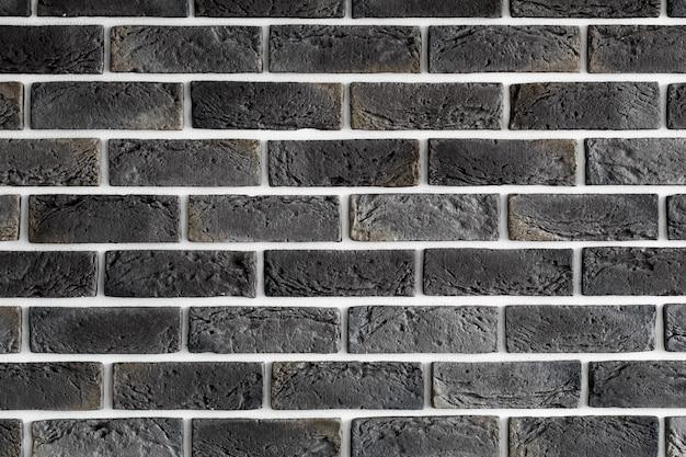 Muro di mattoni marrone scuro