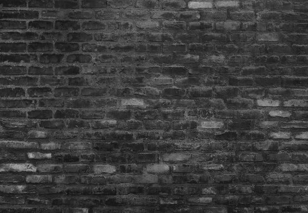 Muro di mattoni nero