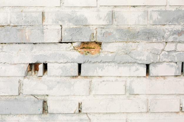 Muro di mattoni sporco con vernice