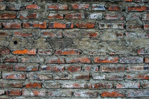 Muro di mattoni sporco per lo sfondo