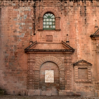 Muro di una cattedrale, la catedral, plaza de armas, cuzco, perù
