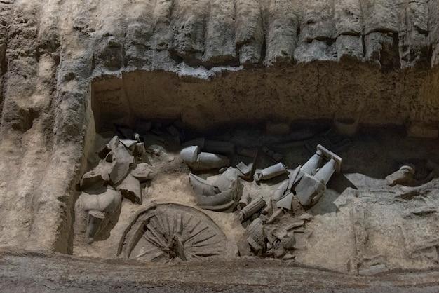 Museo dell'esercito di guerrieri di terracotta, xi'an, shaanxi, cina.