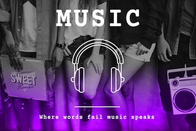 Musica melody rhythm sound ascolto audio di canzoni