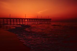 Myrtle beach pier alba onda
