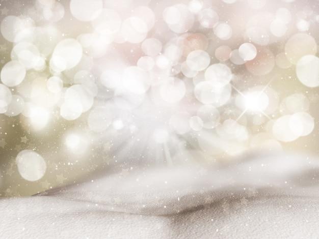 Natale sfondo con cumuli di neve