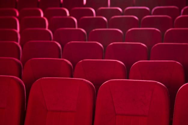 Natura morta di sedili cinematografici