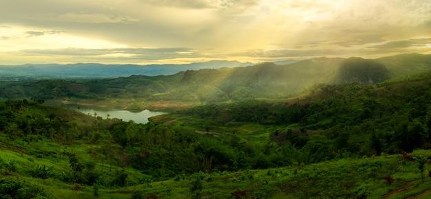 Natura, sera, fotografia, paesaggi, montagne, chiang rai