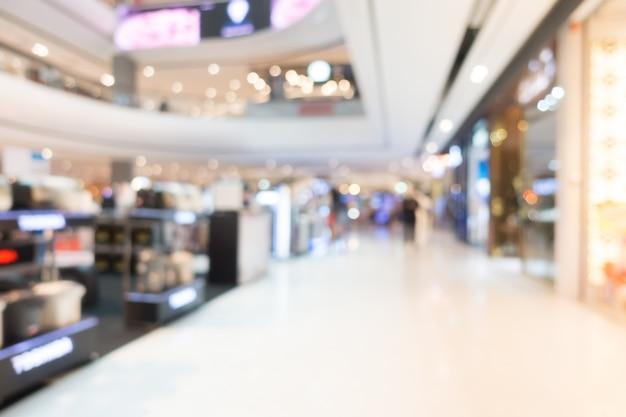 Negozio di negozi e negozio di sfocatura astratto