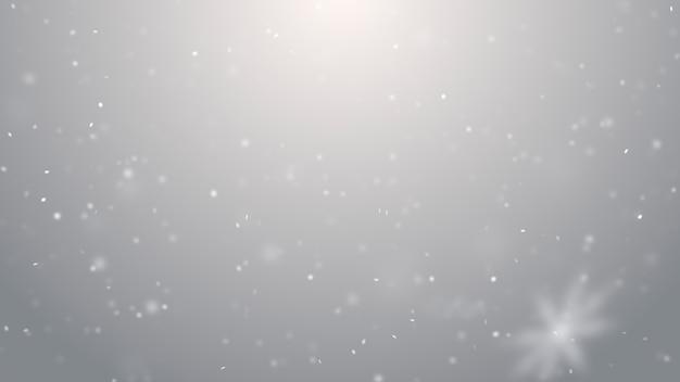 Neve che cade trama. inverno fumoso offuscata luci bianche e argento su sfondo bokeh
