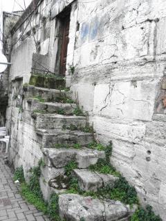 Non utilizzato per decenni gradini di pietra