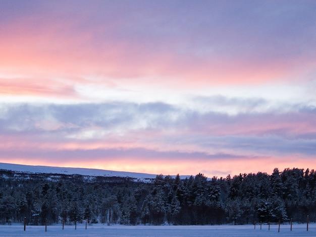 Norvegia inverno neve paesaggio