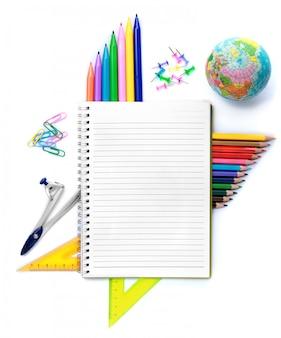 Notebook con oggetti fissi