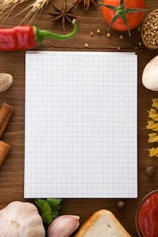 Notebook per cucinare ricette e spezie
