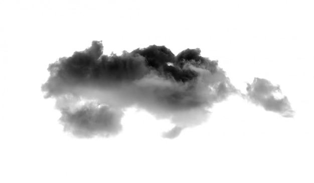 Nube nera isolato su sfondo bianco