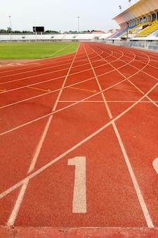 Numero 1 sulla pista di atletica