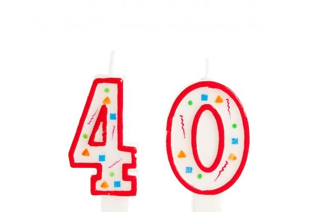 Numero di candele di compleanno