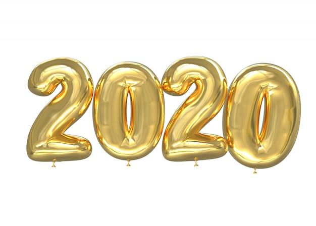 Numero di palloncini dorati 2020