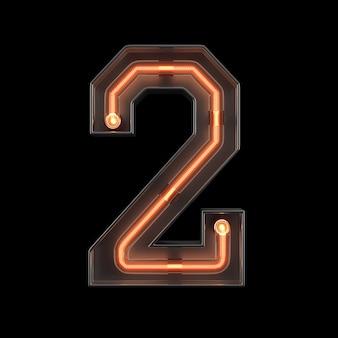 Numero luce al neon 2