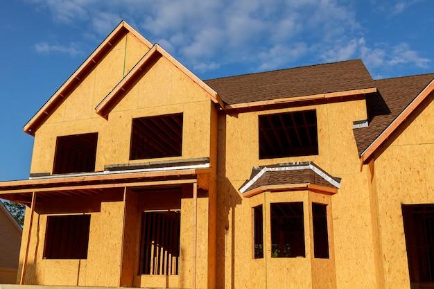 Nuova casa in costruzione - struttura in legno