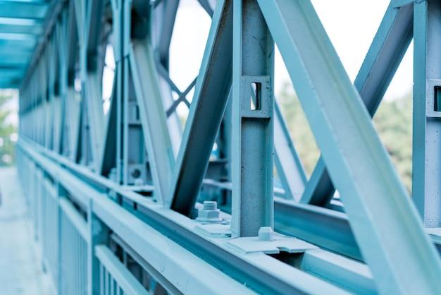Nuova struttura in metallo per l'edilizia residenziale. frammento.