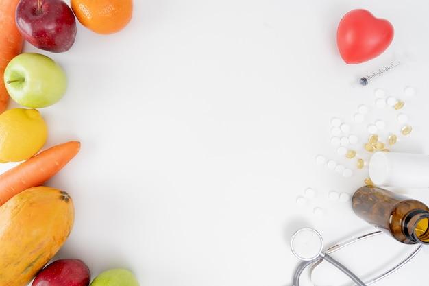 Nutrizione sana di dieta di programma di dieta sana sana