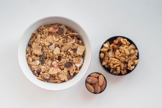 Nuts near muesli