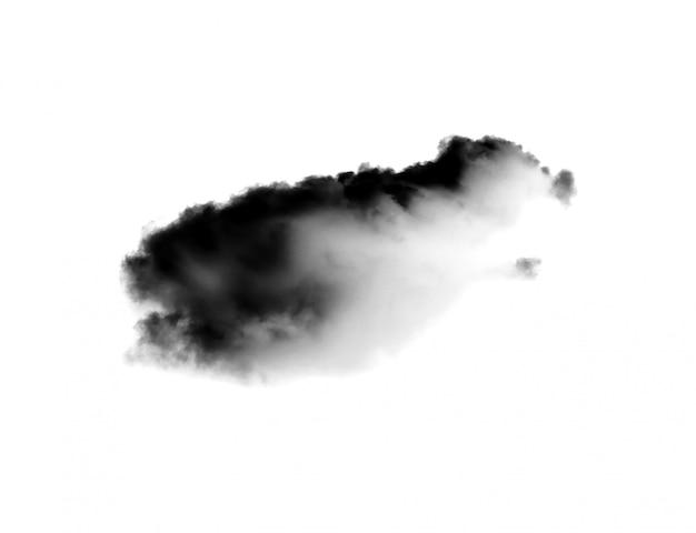 Nuvole isolate su bianco
