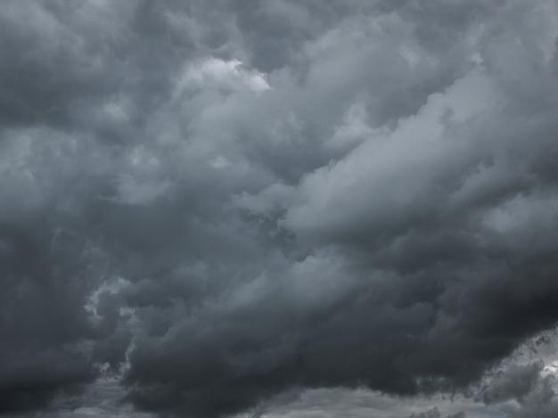 Nuvole scure nel cielo. cielo nuvoloso colorato al tramonto. struttura del cielo, fondo astratto della natura