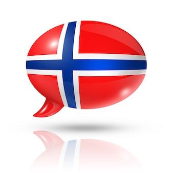 Nuvoletta bandiera norvegese