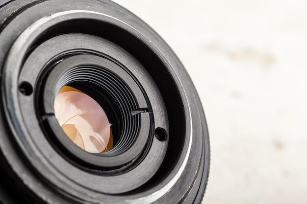 Obiettivo della fotocamera da vicino