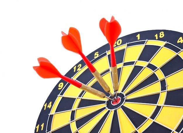 Obiettivo gioco di freccette s aspirazioni toro occhio