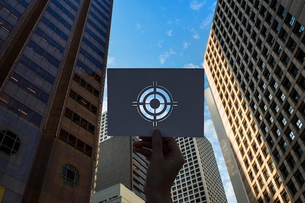 Obiettivo obiettivo bullseye di carta perforata di aspirazione