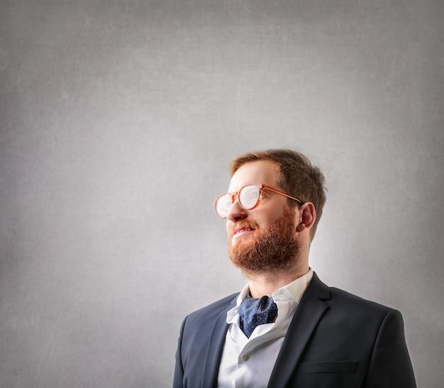 Occhiali da vista dell'uomo d'affari della testarossa