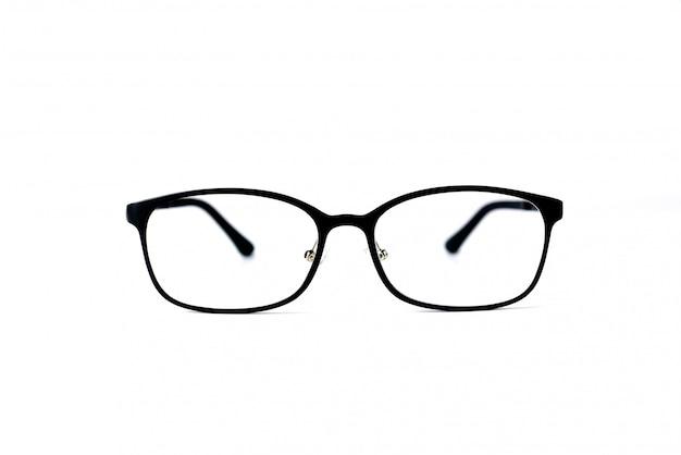 Occhiali di moda isolati su sfondo bianco.