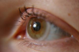 Occhio aperto, retina