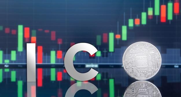 Offerta iniziale di monete (ico) e denaro digitale.