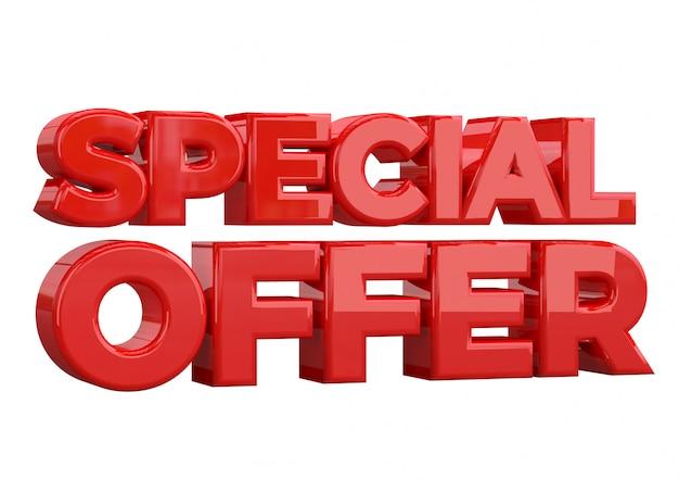 Offerta speciale modello di banner design, promozione speciale
