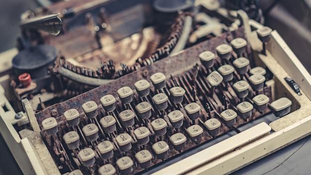 Old business typewriter