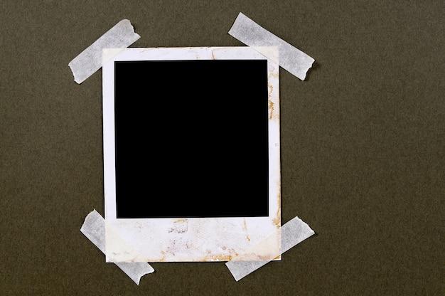 Old polaroid photo