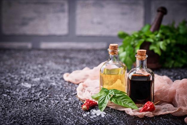 Olio d'oliva e aceto