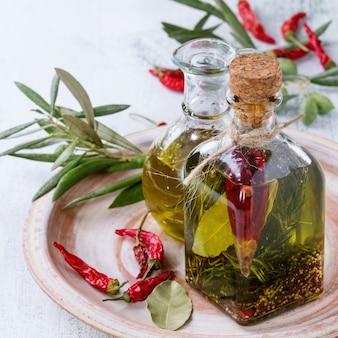 Olio d'oliva piccante