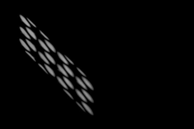 Ombre astratte dalla finestra di vetro su un muro di cemento bianco - monocromatico