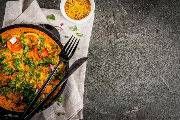 Omelette all'uovo di masala indiana