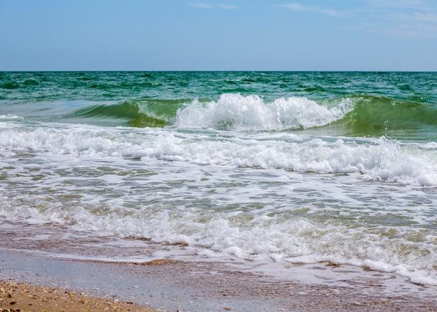 Onde del mare. costa. onde in mare