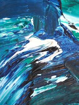 Onde di oceano. movimento che dipinge struttura variopinta. colori luminosi del fondo astratto artistico spruzza.