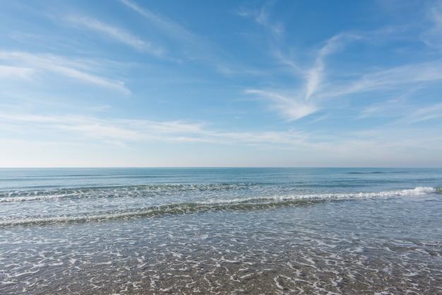 Onde, mare e sole che si riflette dalla spiaggia - sfondo