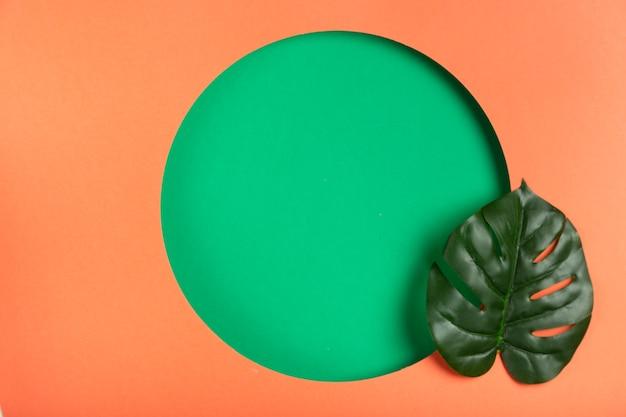 Opera d'arte con il concetto e le foglie di carta