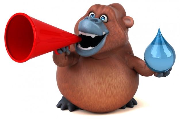 Orangoutan divertente - illustrazione 3d